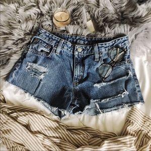 Vintage Ralph Lauren Distress Denim Cut Off shorts